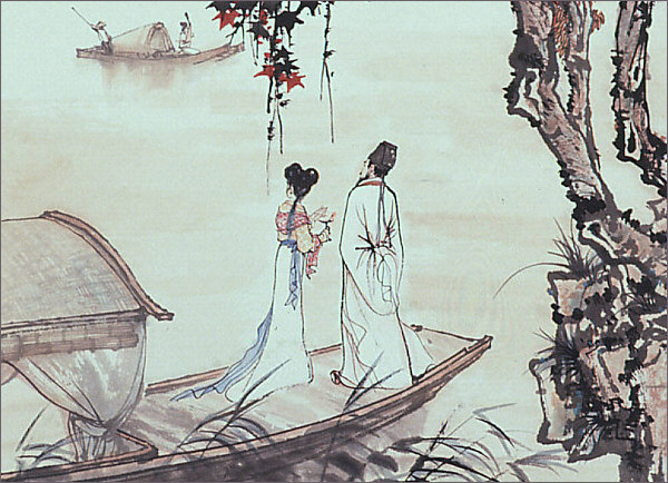 Song of the Pipa, painting by Yao Yuxin