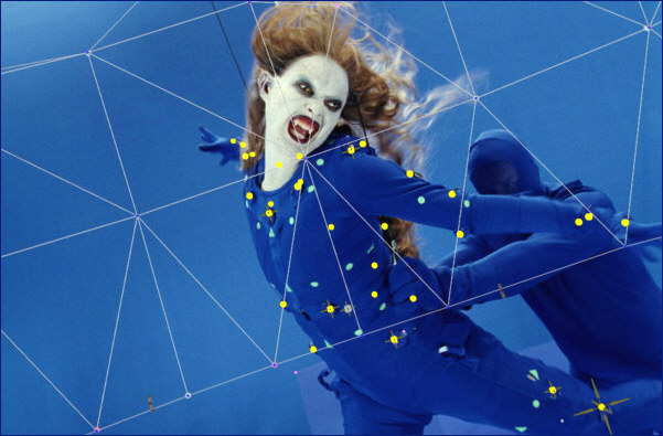 Vampires in motion-capture suits gliding across the blue screen