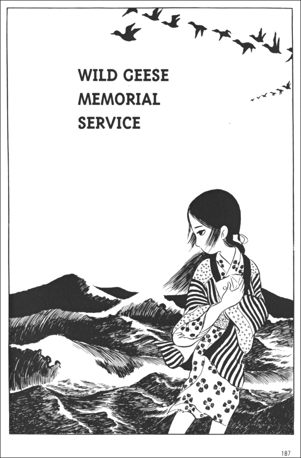 Wild geese memorial service, pg187 of Red Snow by Susumu Katsumata