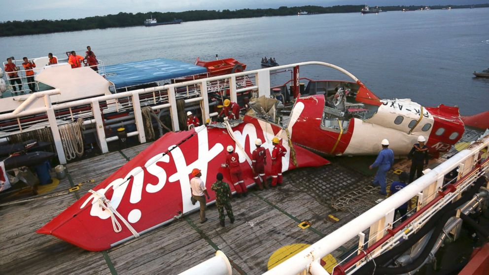 The AirAsia plane recovered from the seabed