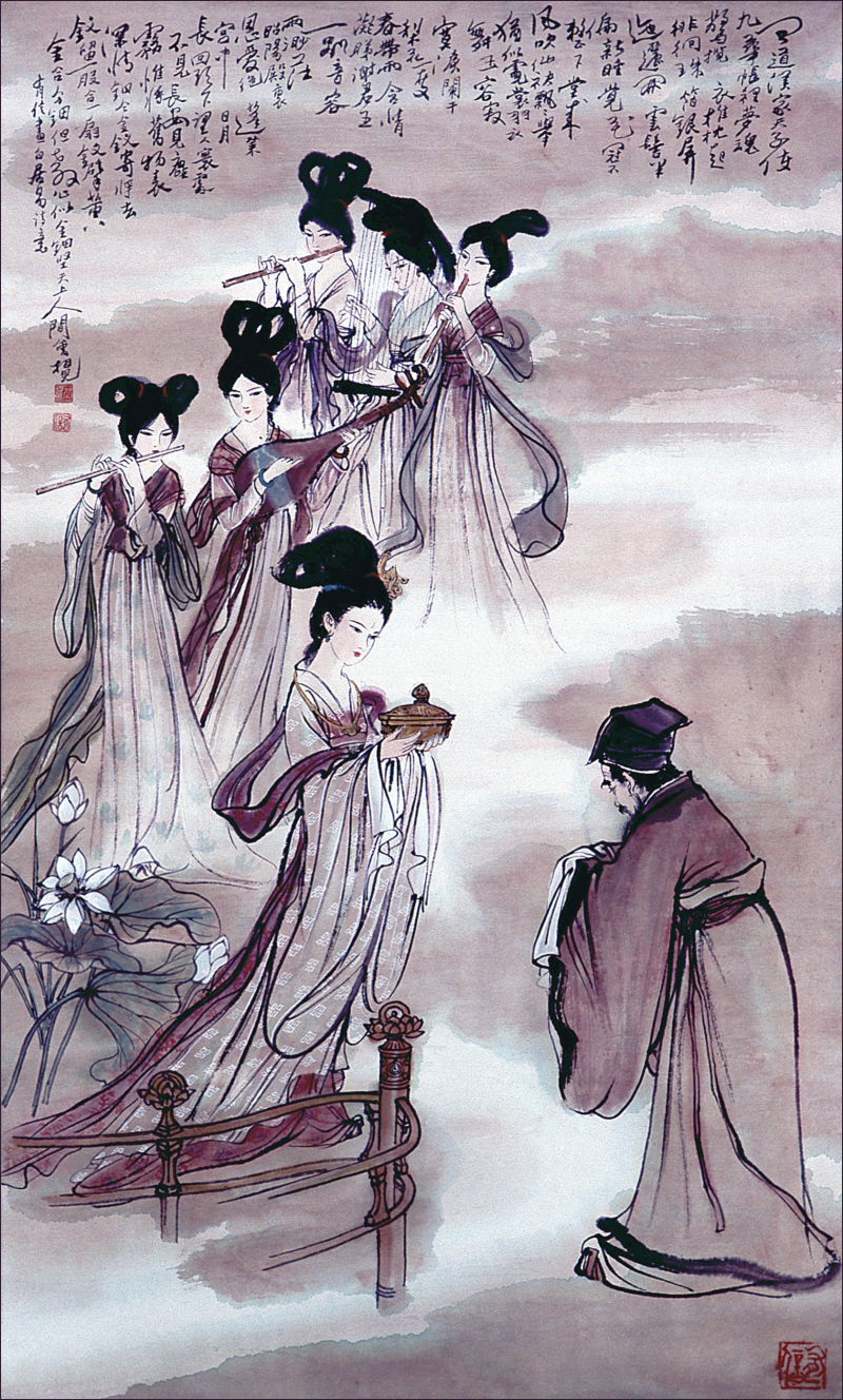Pai Chi-yii Song of Unending Sorrow, painting by Yao Youxin