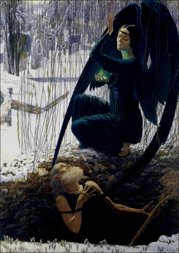 Death of the Grave Digger by Carlos Schwabe