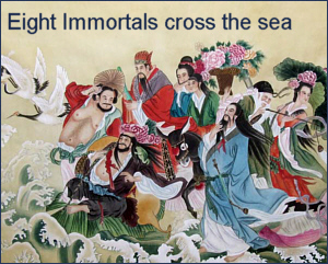 Eight immortals cross the sea