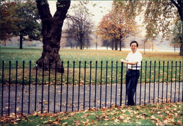 Francis Chin at Hyde Park, London, 1993